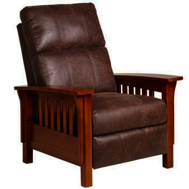 Mission Leather Morris Recliner Chair Recliner Chair Recliner Furniture