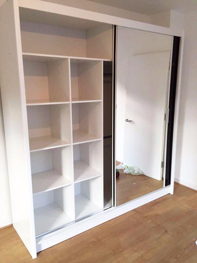 New New Massive Sliding Door Wardrobe With Mirrored Door 203cm
