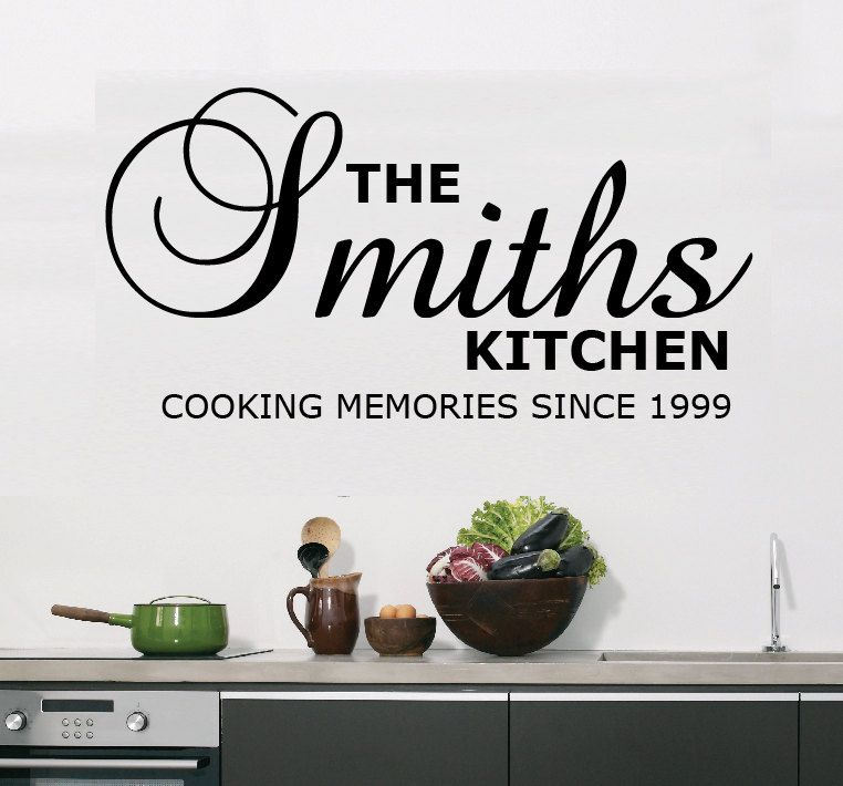 vinyl wall decal kitchen sticker personalised 9 99 on wall stickers for kitchen id=53361
