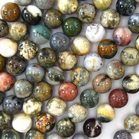 12mm Natural Ocean Jasper Round Beads 15 5 Strand S1 Etsy Round Beads Ocean Jasper Semiprecious Stone Jewelry