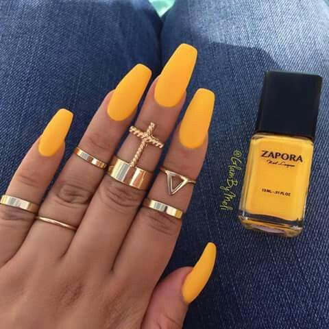 Yellow Coffin Nails Yellow Nails Fake Nails Gel Nails