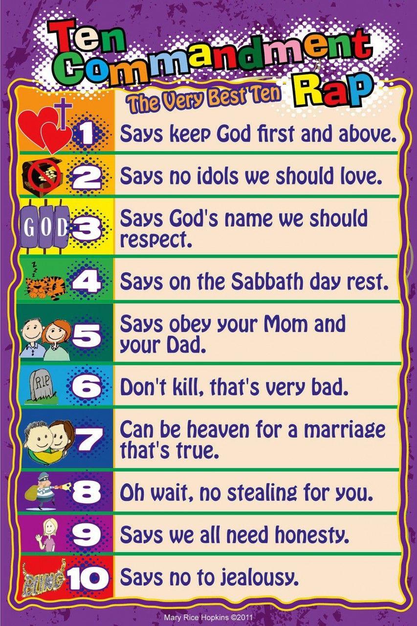 10 commandments rap poster mary rice hopkins children u0027s