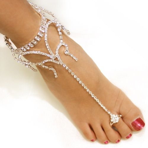 Beach wedding feet jewelry from the Lillian Rose bridal jewelry and