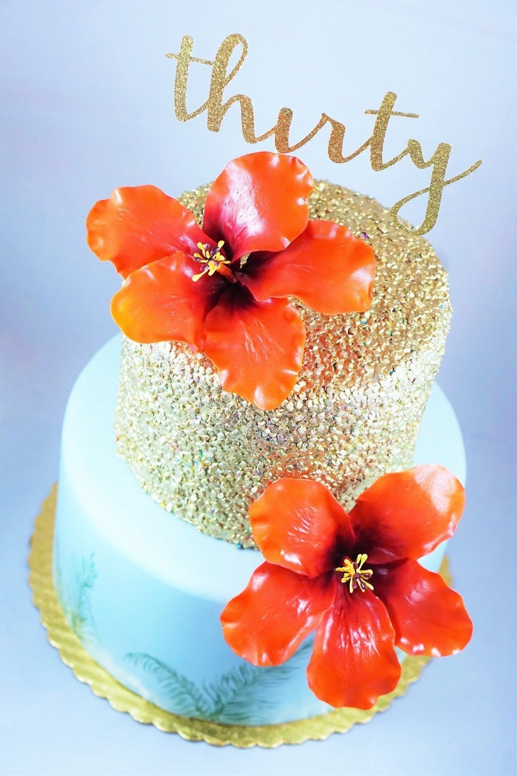 hawaiian birthday cake for man