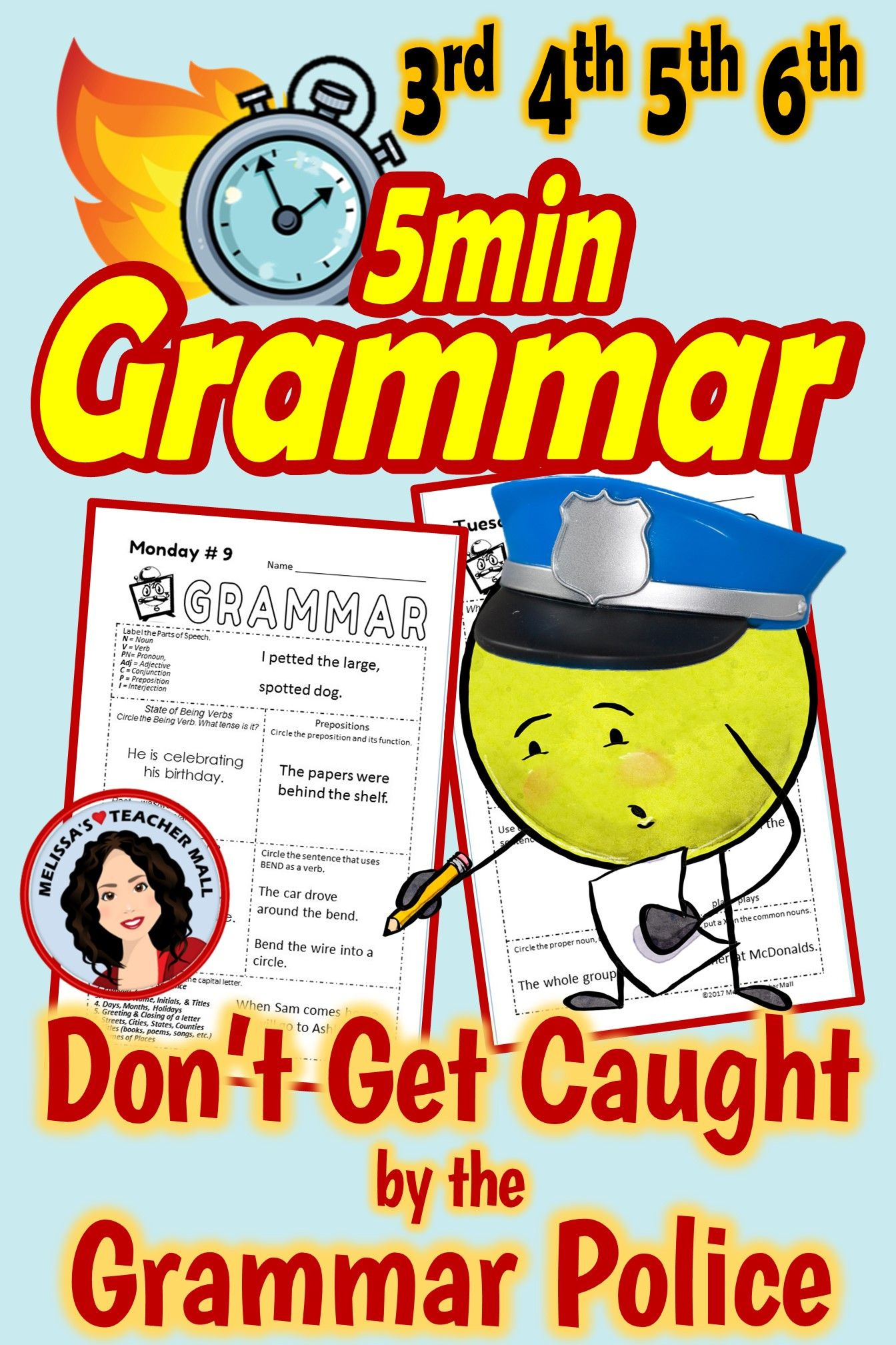 5 Minute Grammar Daily Grammar Worksheets 4th Grade