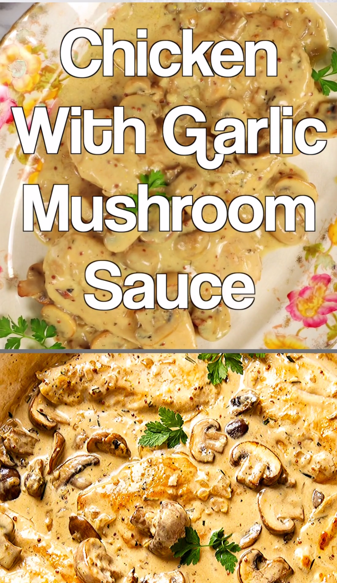 Photo of Chicken with Garlic Mushroom Sauce