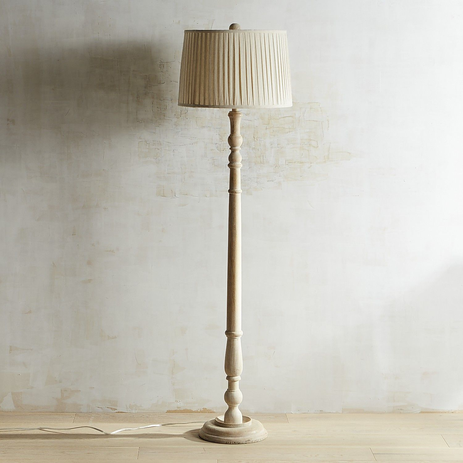 Ashmere Whitewashed Wooden Floor Lamp Wooden Floor Lamps Farmhouse Floor Lamps Country Floor Lamps