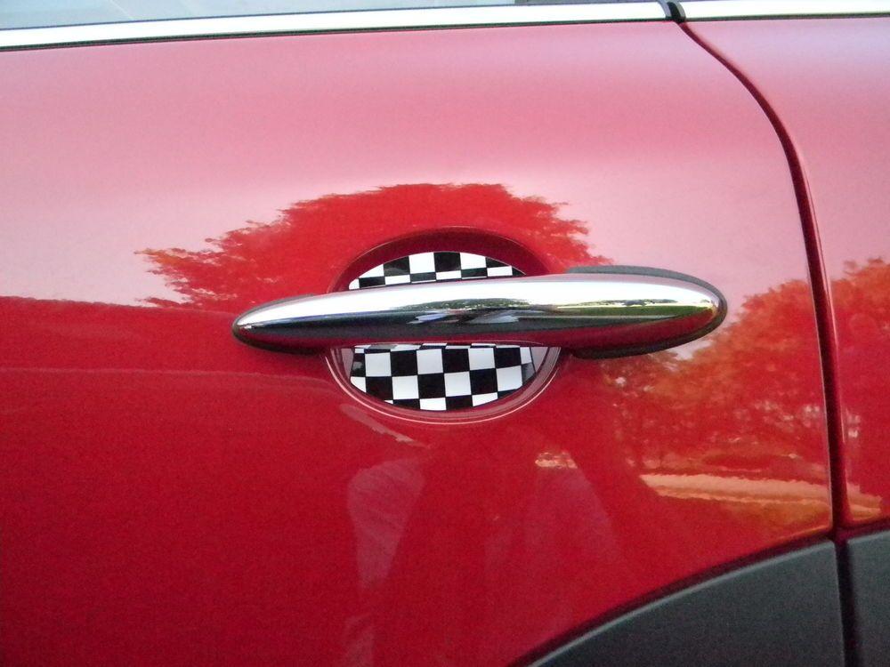 Mini cooper checkered flag car auto door scratch guard protector fit ...