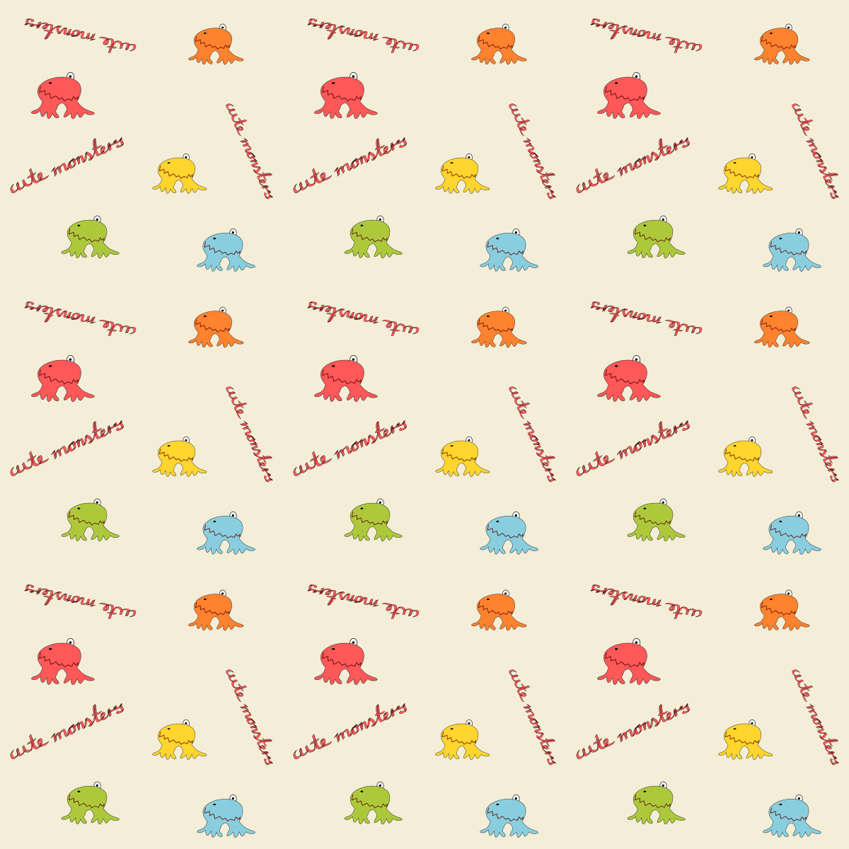 free digital monster scrapbooking paper for kids ausdruckbares