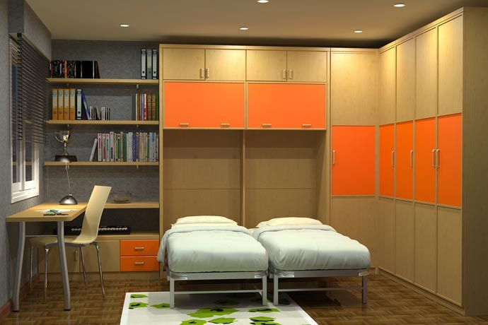 Soluciones de dormitorios juveniles para dos sofas camas cruces tendencias - Dormitorios juveniles dos camas ...