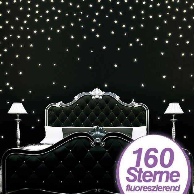 wandtattoo sterne fluoreszierend reuniecollegenoetsele. Black Bedroom Furniture Sets. Home Design Ideas