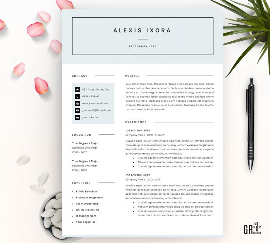 Alexis ixora resume template resume template resume