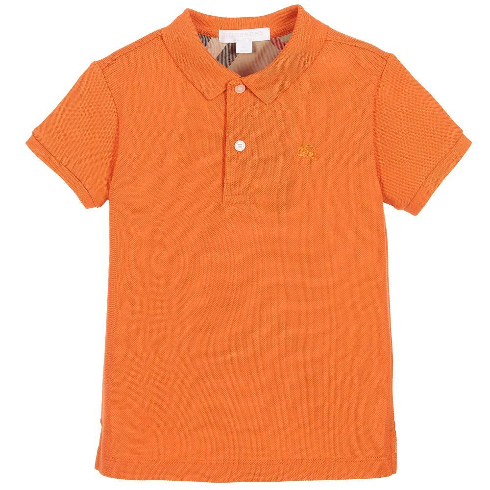 Stylish and trendy, this t-shirt is an ideal pick for your little champ for regular casual wear. Tailored from soft fabric, this t-shirt will keep your child at ease all day long. Also, the polo neck of the t-shirt .