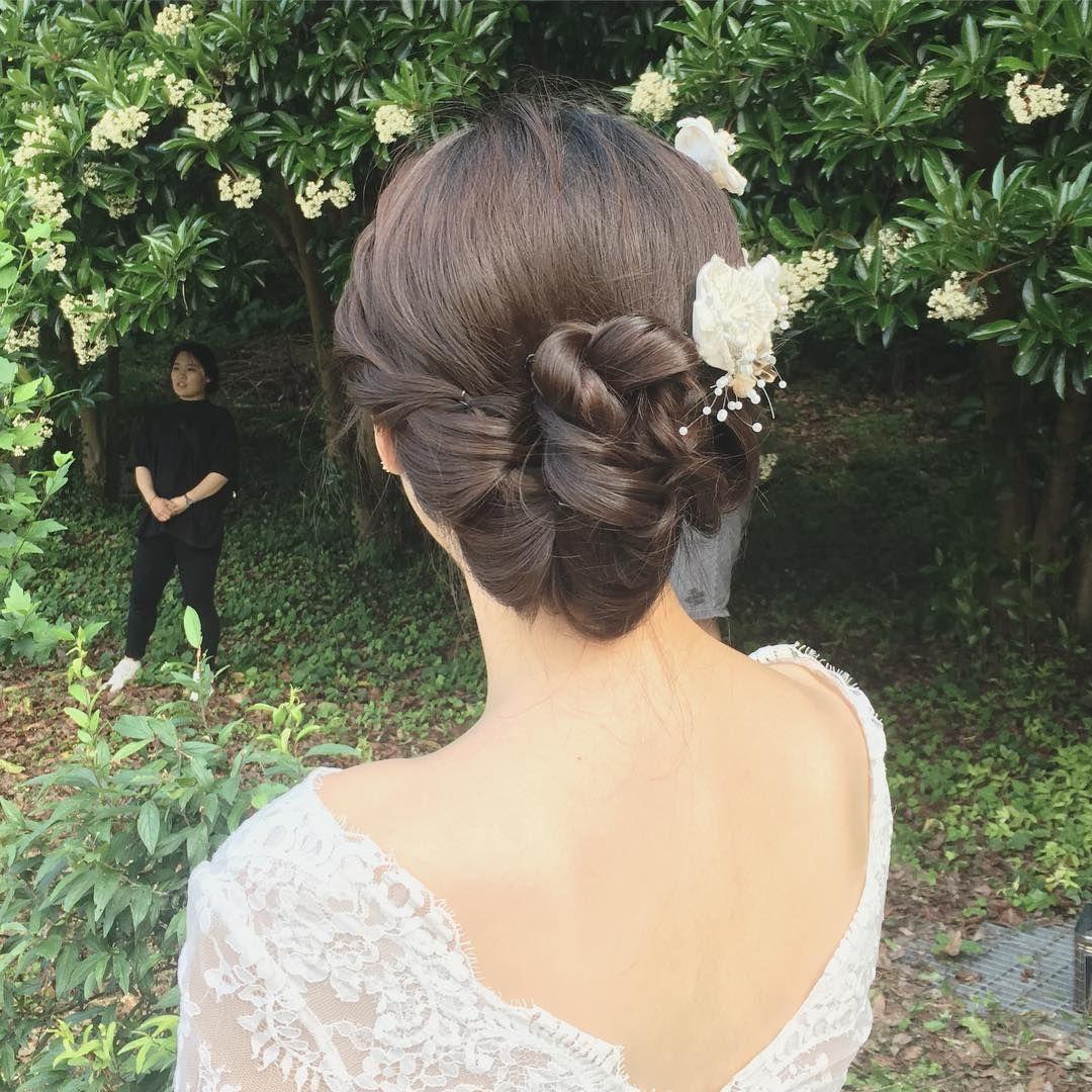 クラシカルで品がある 韓国花嫁さんの すっきり王道まとめ髪