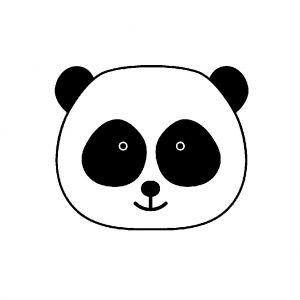 Tampon Support Bois 2 6 X 2 6 Cm Tete De Panda X1 Tampon Tampon