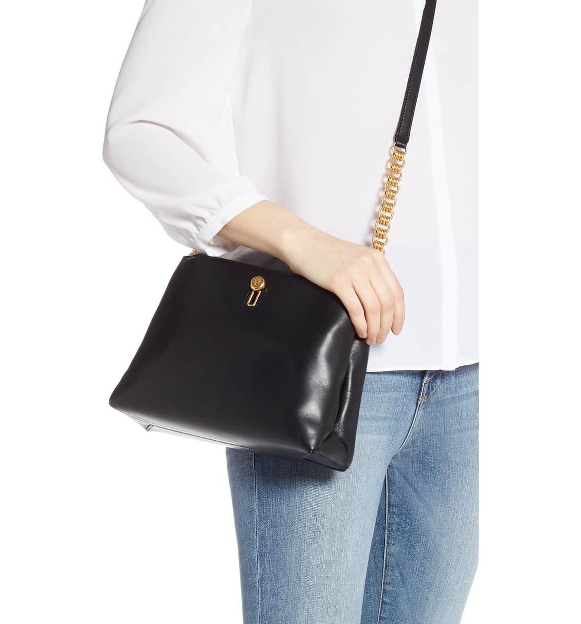 801519503 Lily Chain Leather Crossbody Bag, Alternate, color, BLACK | Wishlist ...