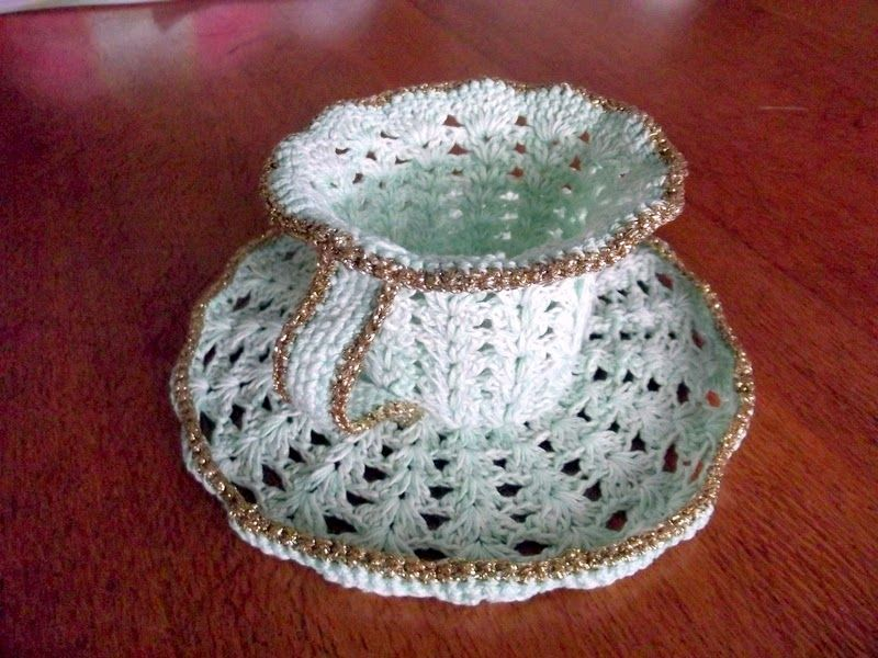 Free Crochet Cup And Saucer Pattern Yahoo Image Search Results
