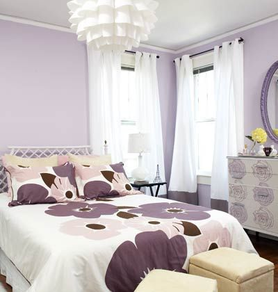 in the master bedroom purple flowered bedspread with pale purple rh pinterest com Blue and Lavender Bedrooms Blue and Lavender Bedrooms