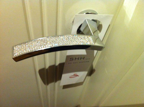Diamond Encrusted Door Handle :) Need For My Bedroom!