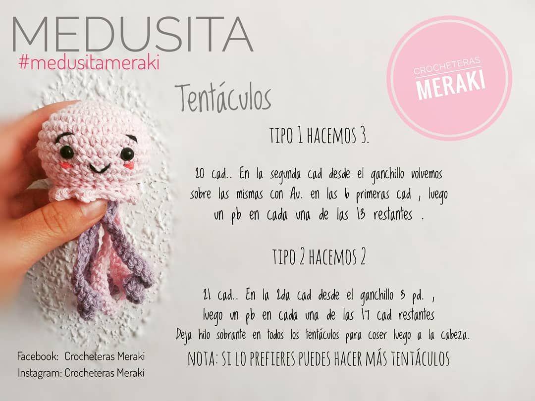 Encantador Patrón De Crochet Medusas Imagen - Manta de Tejer Patrón ...