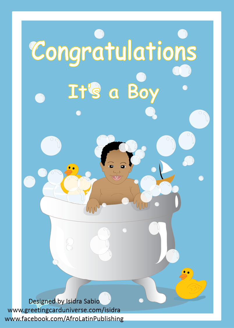 It\'s a Boy card. This card is perfect for baby showers. A black ...