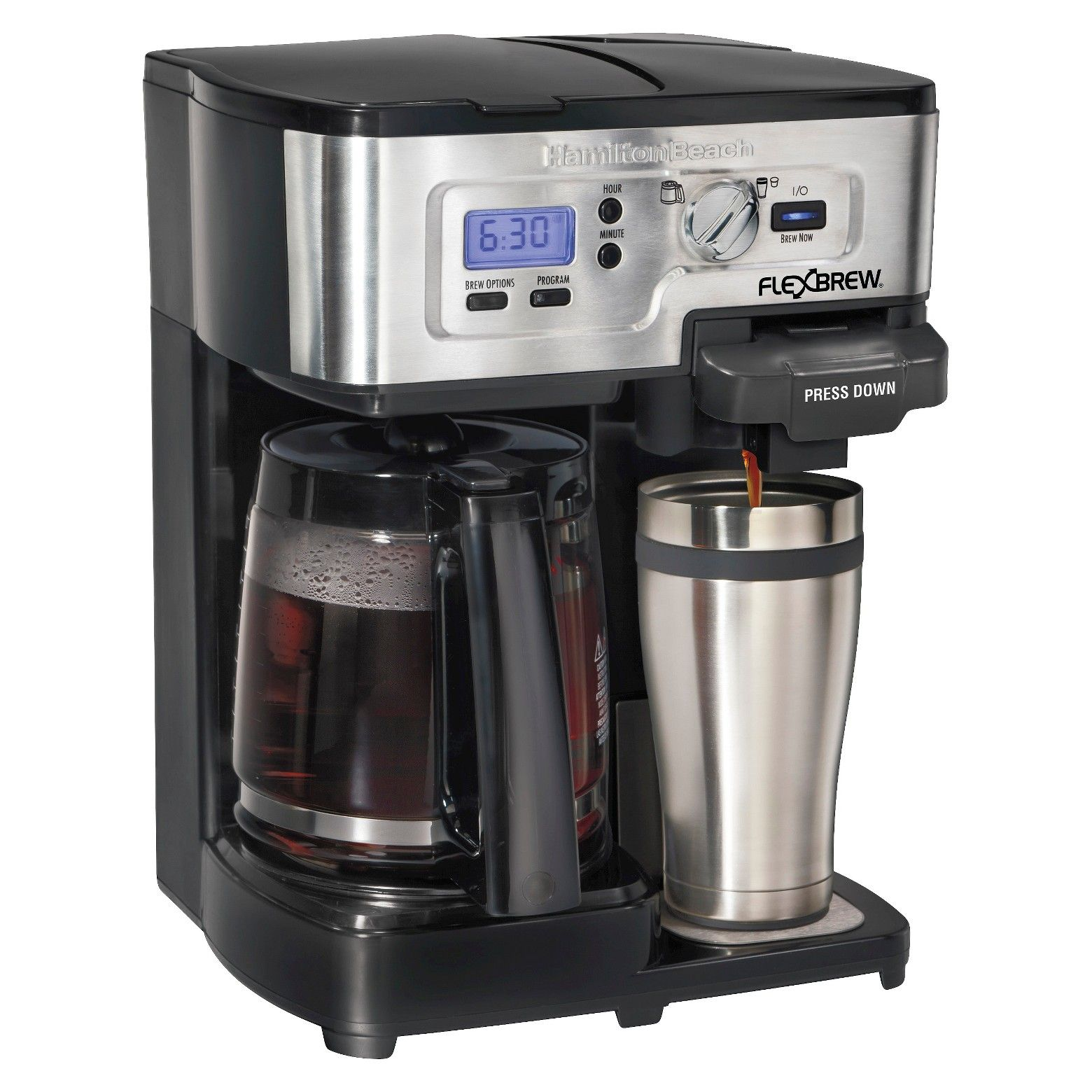 The 2Way FlexBrew® Coffeemaker maximizes your brewing