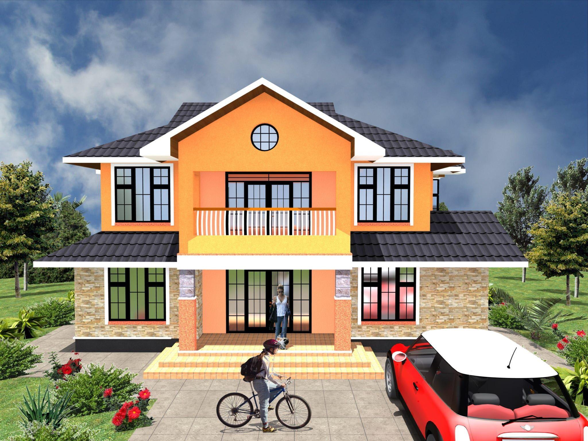 4 Bedroom Design 1013 A House Plans Maisonette House