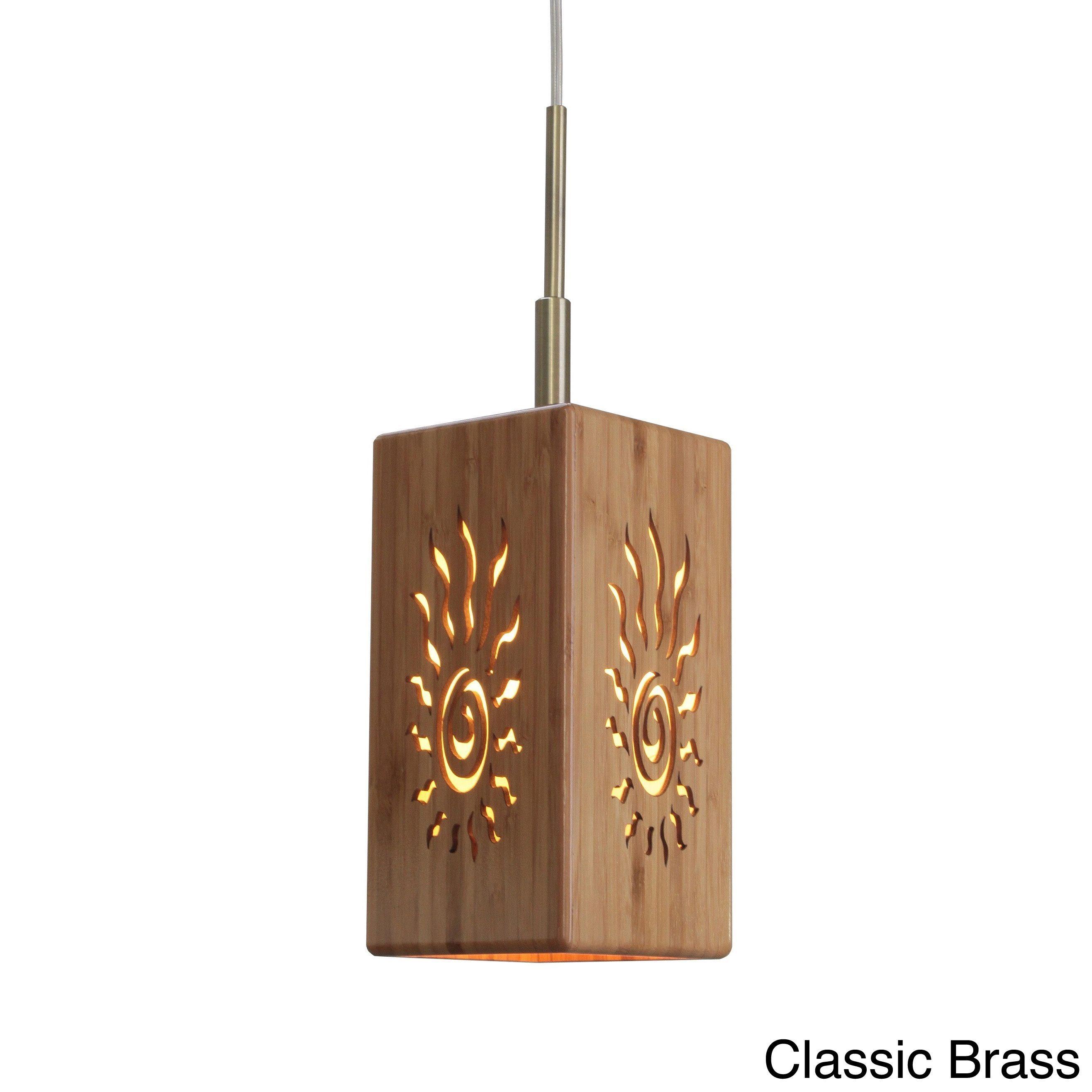 Woodbridge lighting lighthouse light bamboo pendant yellow