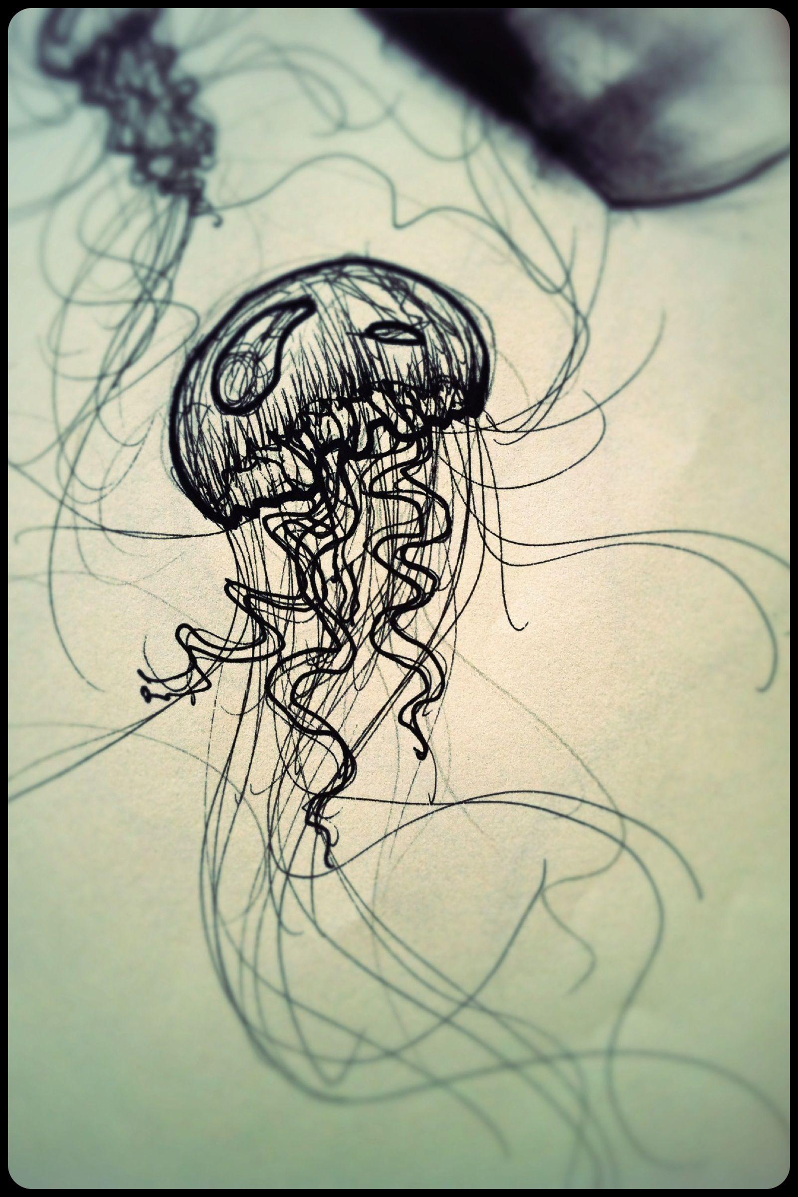 My quick jellyfish drawing