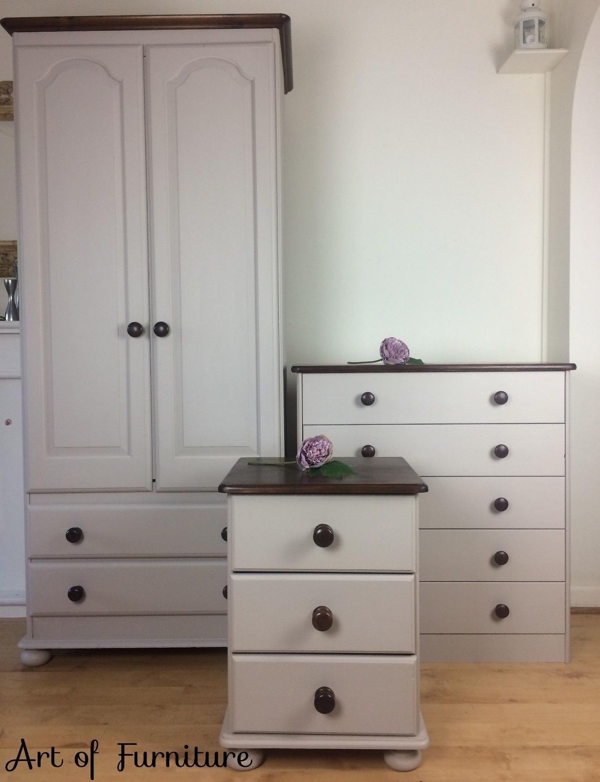 Sold pine rustic country bedroom furniture set of chest of drawers