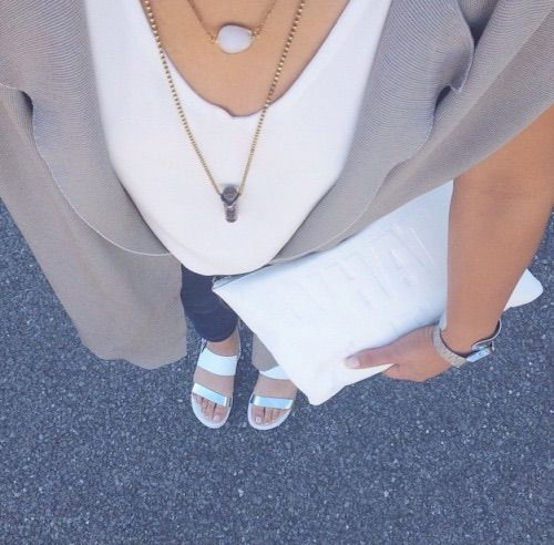 Image via We Heart It #clothes #fashion #girl #jacket #large #necklace #outfit #shoes #style #white
