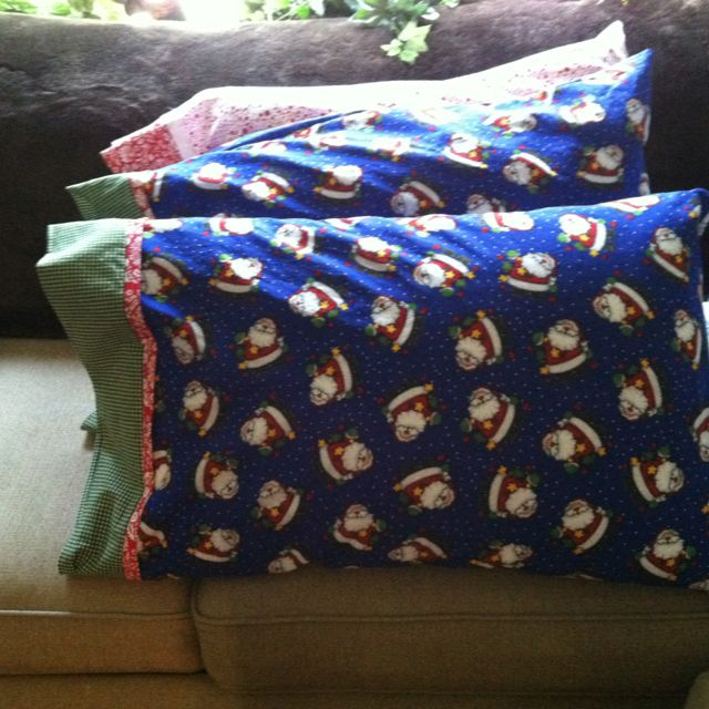 Tube Pillow Case Diy: Christmas pillowcases This is my version of the youtube tutorial    ,