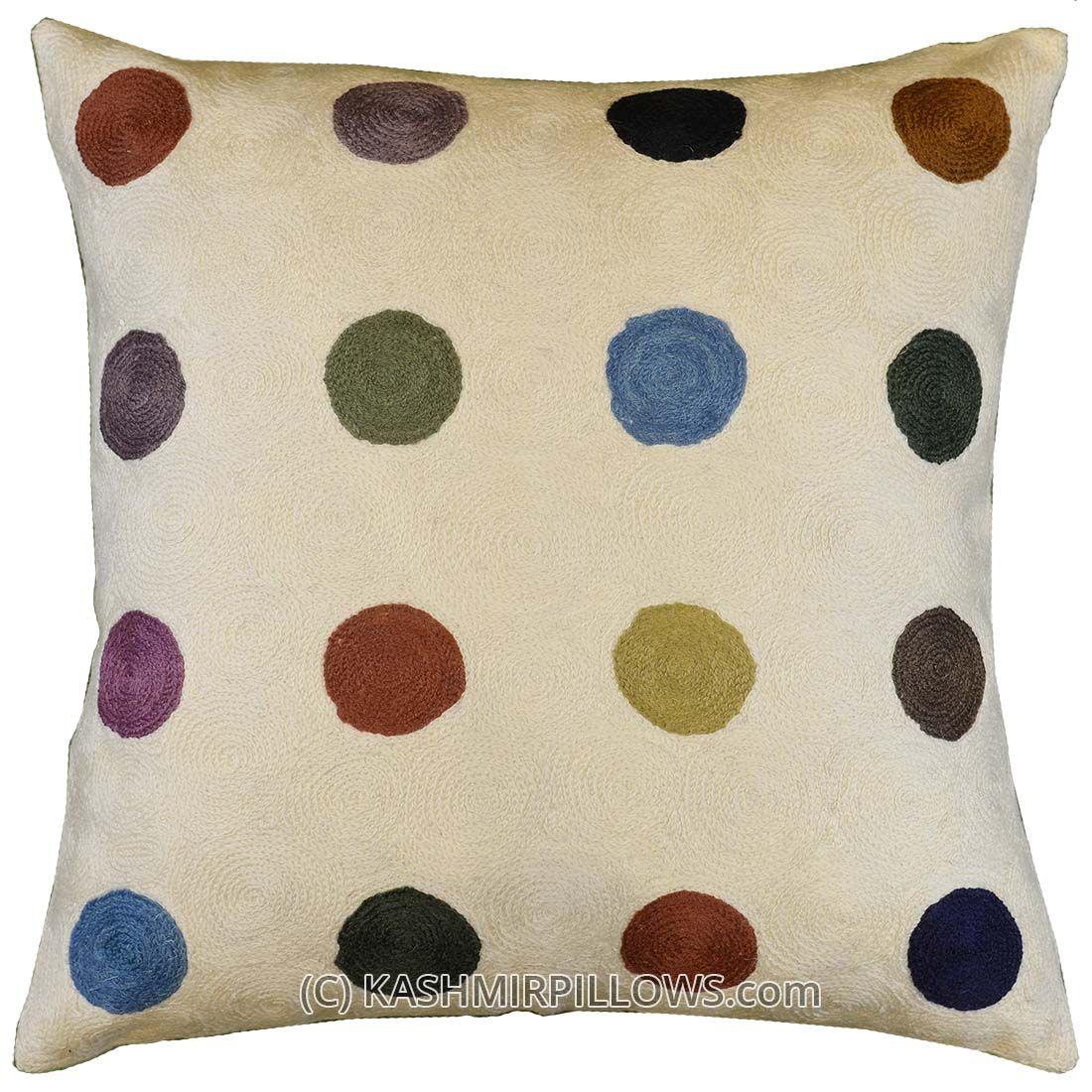 Polka Dots Ivory Modern Throw Pillows Cream Cushion Cover Accent Sofa Couch Cushions Decorative Abstract Pillow Contemporary