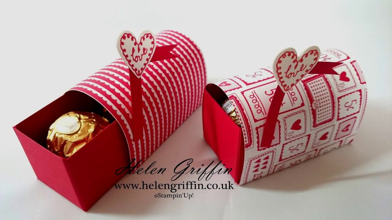 StampinuUp Ferrero Rocher Valentines Mini Post Box Tutorial  DIY