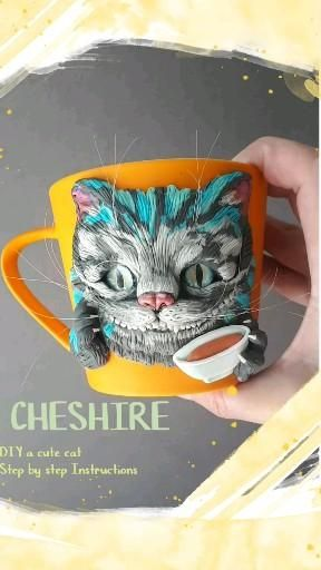 Polymer clay tutorials Cat and Mouse, polymer clay cup PDF tutorial and polymer clay spoon video tutorial