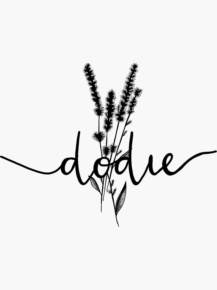 Dodie Clark Doddleoddle Signature And Tattoo Sticker By