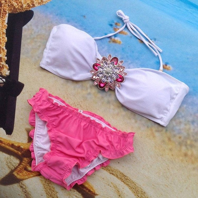 Summer Style Women Swimsuit 2015 New Arrive Sexy Rhinestone Bikini Set Crystal Push Up Swimwear Bikini Bathing Suit Monokini-in Bikinis Set from Women's Clothing & Accessories on Aliexpress.com | Alibaba Group