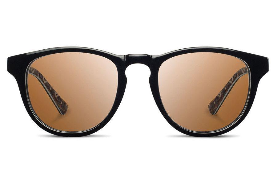 Shwood - Francis Acetate Pendleton Black & Rancho Arroyo / Brown Polarized Sunglasses