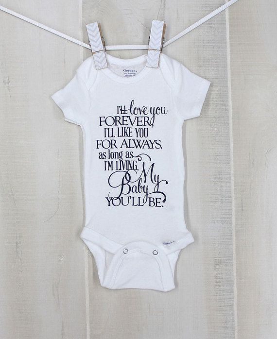 0 3 month ill love you forever personalized baby onesie cute new 0 3 month ill love you forever personalized baby onesie cute new baby gift negle Gallery