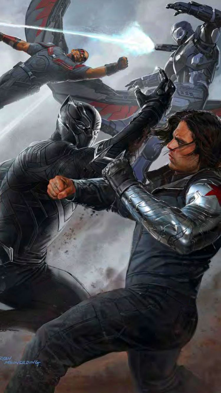 Black Panther & Falcon vs Winter Soldier & War Machine