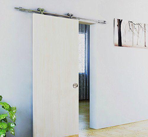 Amazon Com Bd Stk Satin Nickel Brushed Stainless Steel Sus304 Modern Barn Wood Sliding Door Har Sliding Door Hardware Track Sliding Glass Door Woods Sliding