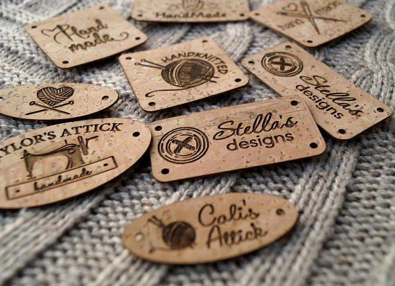 fcdec68f98013 Custom labels, knitting labels, logo labels,Clothing labels, cork ...