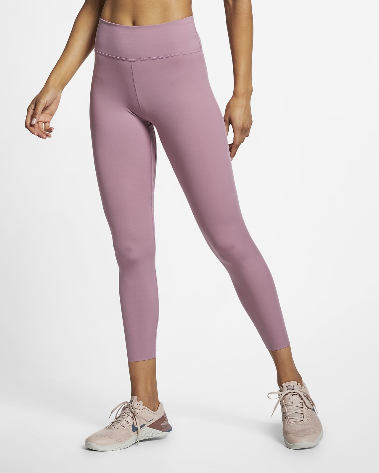 0d09eb9153 Nike One Luxe Women's 7/8 Tights / Pink Tights / Yoga Tights / Barre  Thights / Workout Wear / Athletic Wear / Style by Jamie Lea