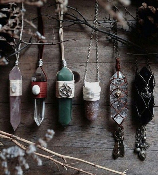 Photo of jewels necklace gems gems boho hippie nature art witch …