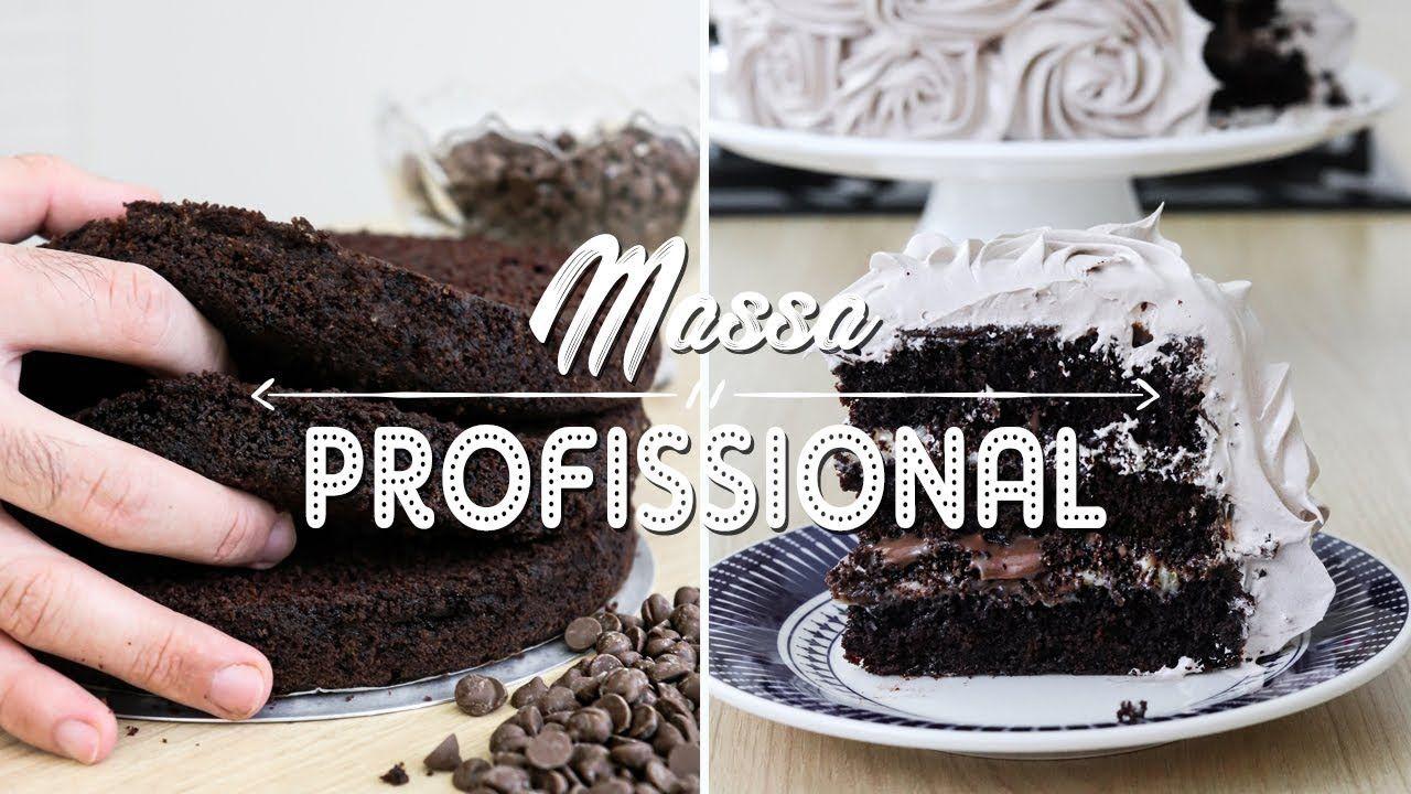 Massa De Bolo De Chocolate Profissional Simples E Fofinha Gabriel