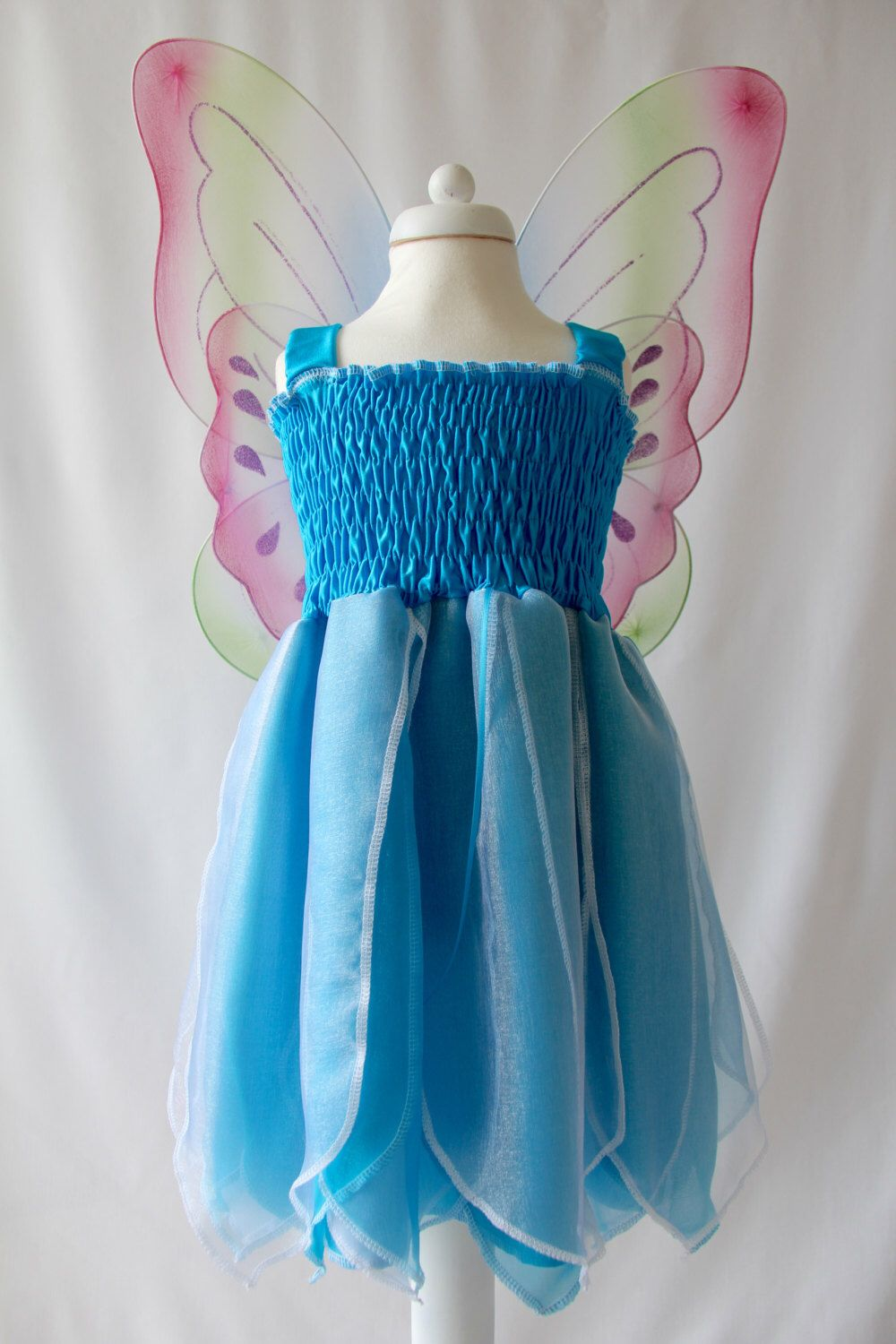Turquoise Fairy Dress, Frozen Costume Dress, Girl\'s Party Dress ...