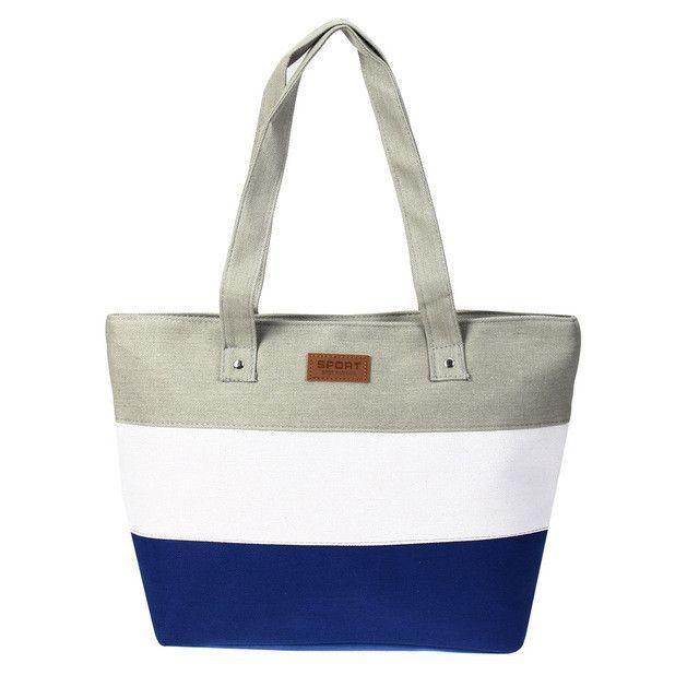 Summer Canvas Women Beach Bag Fashion Color Printing lady Girls ...