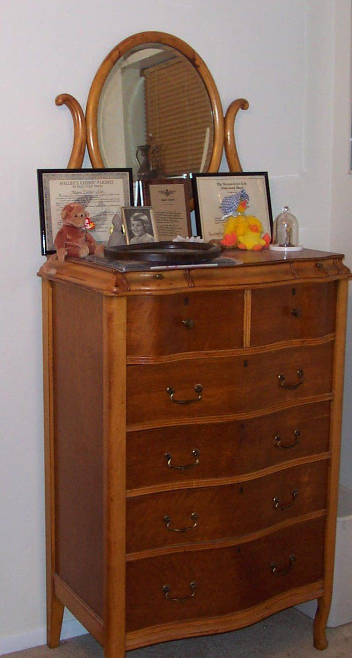 Birdseye Maple Dresser Antique