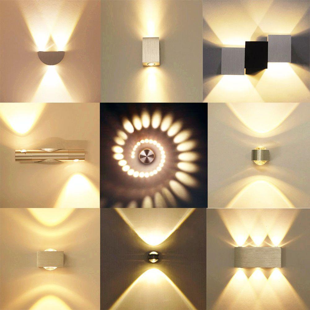 details zu 3w rgb led wandleuchte decken treppen effekt licht flurlampe mit fernbedienung. Black Bedroom Furniture Sets. Home Design Ideas