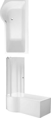 Villeroy & Boch Badewanne Subway UBA170SUB3LIV 1700 Asymmetrisch Acryl weiß alpin
